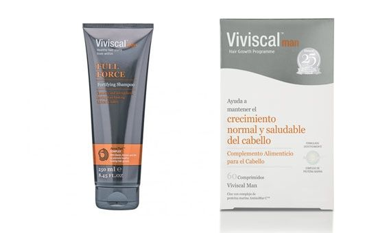 Viviscal Man Complementos + Champú Full Force