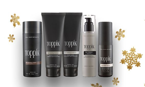 Toppik Hair Building Fibers 55g + Styling Kit + Fiberhold Spray